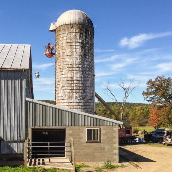 silo before shotcreting