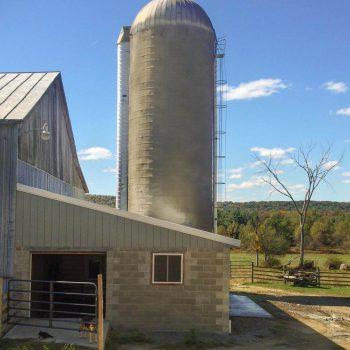 silo after shotcreting