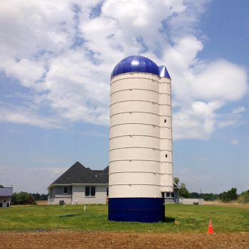 silo after paint