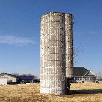 Silo before the new paint job and roof.