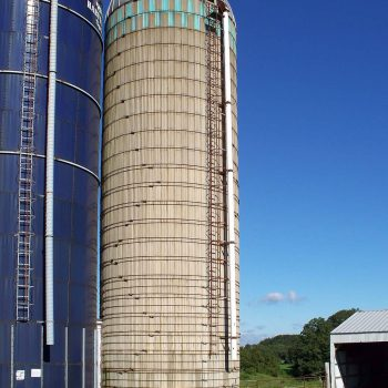 This is the silo before we begin to dismantle it.