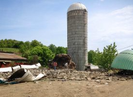 3 silos demolished and 1 still standing