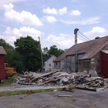 The 4 silos have been reduced to rubble.