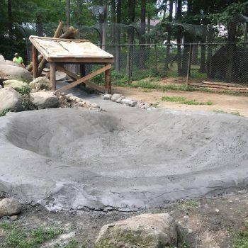 The new sluiceway and bear pond.... Happy splashing, bears!