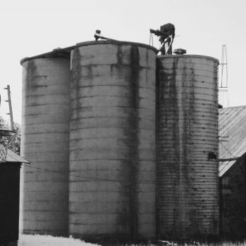 4 old silos under one roof, soon to be demolished.
