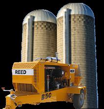 Silos and trailer concrete pump