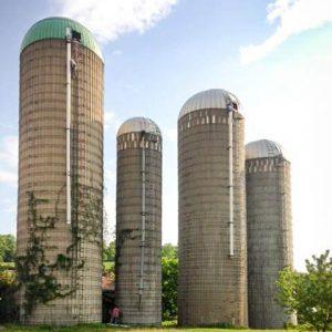 cement stave silos.