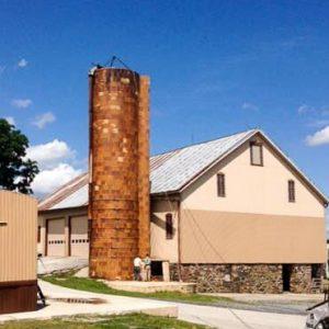 An old terra cotta silo.
